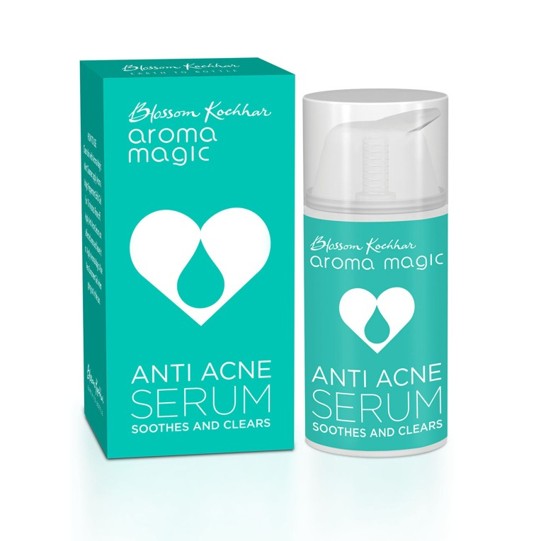 Blossom Kochhar Aroma Magic Anti Acne Serum_box + bottle