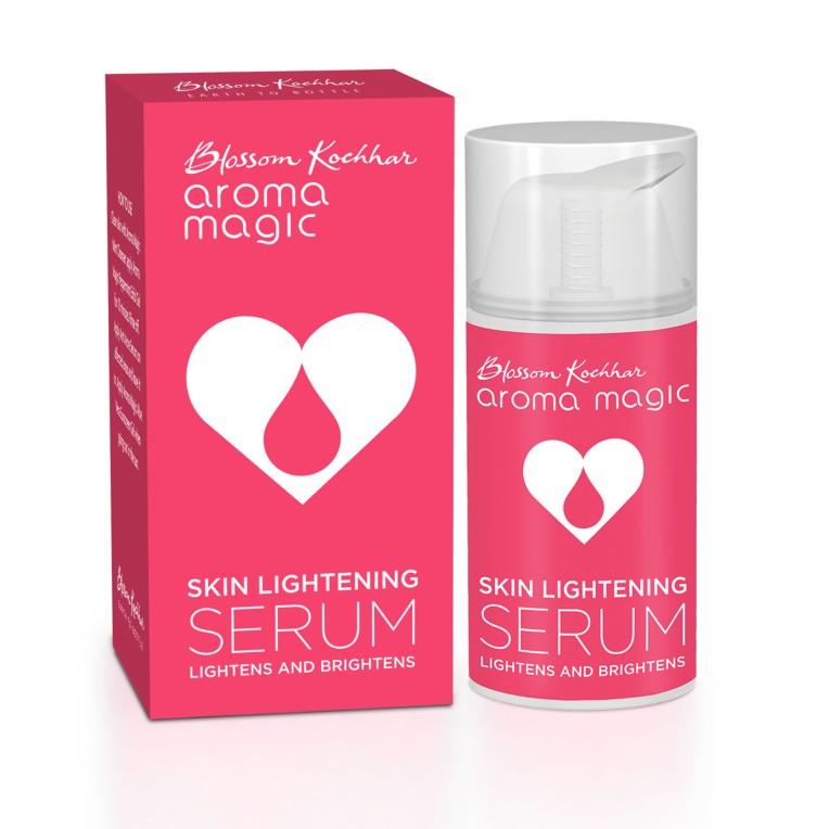 Blossom Kochhar Aroma Magic Skin Lightening Serum box + bottle